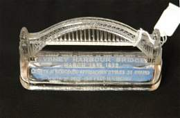 274 Clear Glass Sydney Harbour Bridge Souvenir Piece