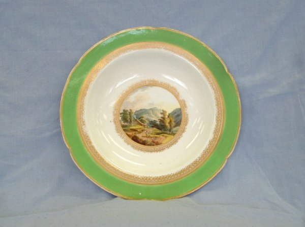 1001:  Derby Topographical Cabinet Plate. 'View of Kesw
