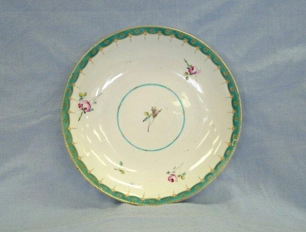 1003:  Derby Dish c.1780-1800. Blue & gilt border with