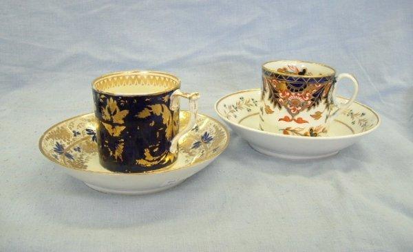 1005:  4 Various Pieces Derby Porcelain c.1800. 2 coffe