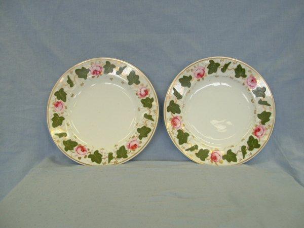 1008: Pair Bloor Derby Side Plates c. 1820-1830. Hand p