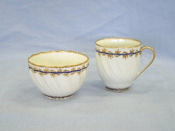1015: c.1780--1800 Derby Tea Cup & Tea Bowl. Twist flut