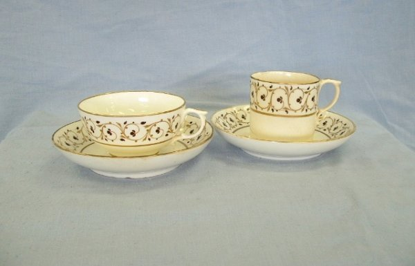 1019:  4 Pieces Matching Bloor Derby Porcelain c.1825-1