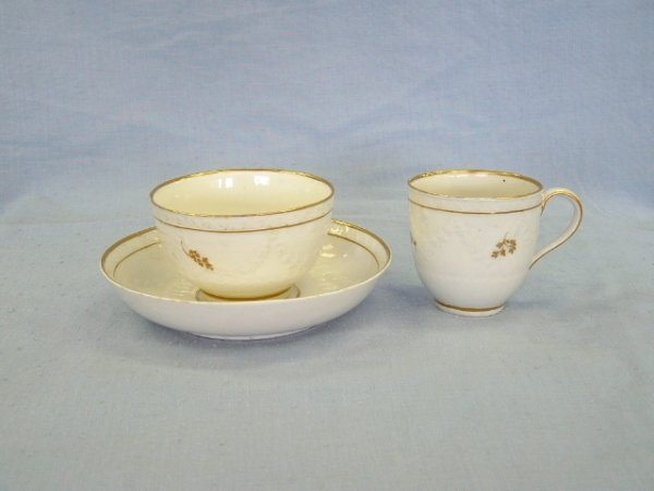 1020:  3 Matching Pieces Derby Porcelain c.1780-1800. I
