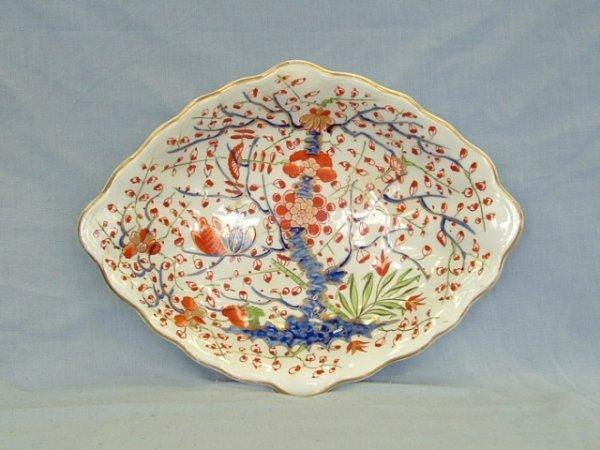 1021: Derby Indian Tree Pattern Diamond Shaped Dish. Re