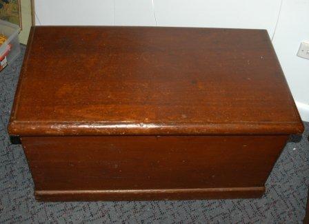 1787: Australian Colonial Cedar Blanket Box  H 45 W 86