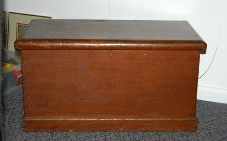 1787: Australian Colonial Cedar Blanket Box  H 45 W 86  - 3