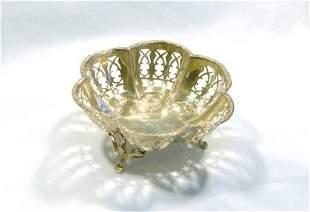 HMSS Tri-Footed Basket. Birm.1911. Maker H Matthews.