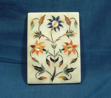 5: Early Italian Pietra Dura Plaque with Floral Motif.