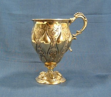 15: Victorian Single Handled Presentation Cup. Silver g