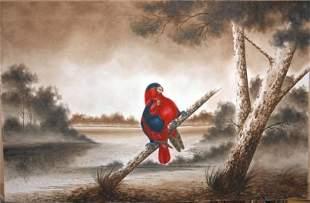 CALVERT, H H Pair of [King?] Parrots, 1919. W/C