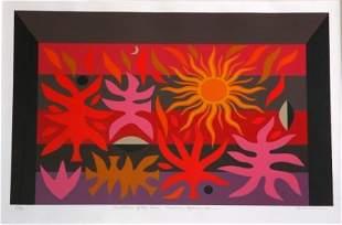 COBURN, John (b.1925) Curtain of the Sun, Sydney