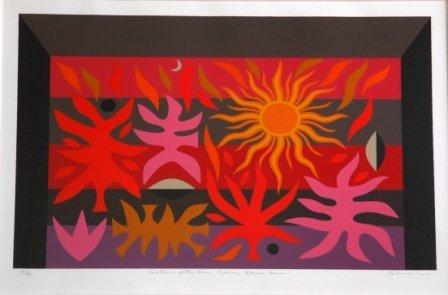 1012: COBURN, John (b.1925)  Curtain of the Sun, Sydney