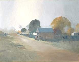 PARKER, Colin (b.1941) Autumn Morning at Wattle