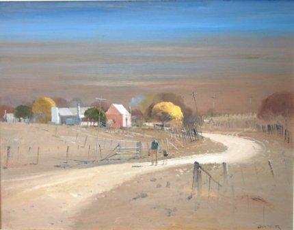 1021: PARKER, Colin (b.1941)  The Dusty Road, Moonan Fl