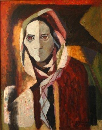 1023: McCLINTOCK, Herbert (1906-1985)  Hooded Woman, 19