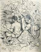 1025: FRIEND, Donald (1915-1989) Two Balinese Boys. Si
