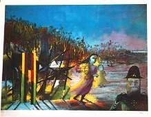 1143: NOLAN, Sid (1917-1992) Kelly Series Lithograph