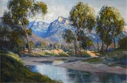 1307: SEALY, Doug (b.1937) 'View from the Camp, Capert