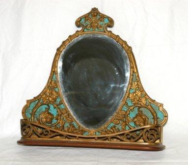 23: Pierced Brass Mirror Back Wall Bracket. Floral & fl