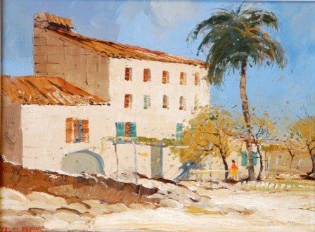 "1016: PARKER, Colin (b.1941)  ""'A Spanish Farmhouse,' M"