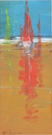1023: HAGAN, Robert (b. 1947)  Sailing Boats.  Oil on P