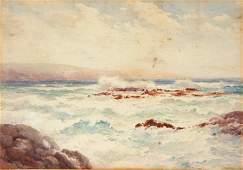 1152: COCKS, R Sydney Coastal Scene with Breaking Wave
