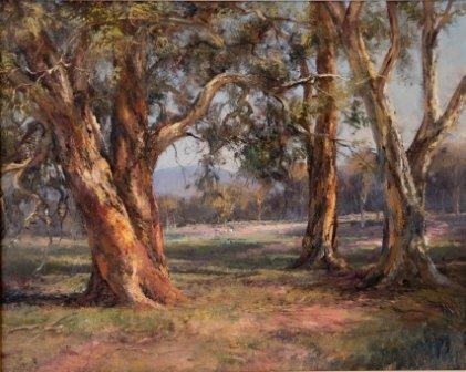 1001: SEALY, Kasey (b.1961)  View Through the Trees. Un
