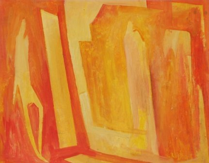 1004: COLEMAN, Bill (1922-1993)  Cityscape with Figure.