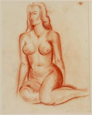 COLEMAN, Bill (1922-1993) Nude Study. Unsigned.