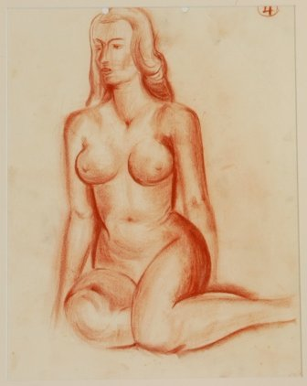 1010: COLEMAN, Bill (1922-1993)  Nude Study. Unsigned.