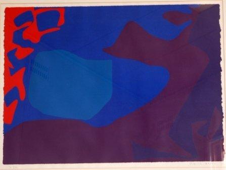 1012: HERON, Patrick (1920-1999)  Untitled, 1973.  Lith