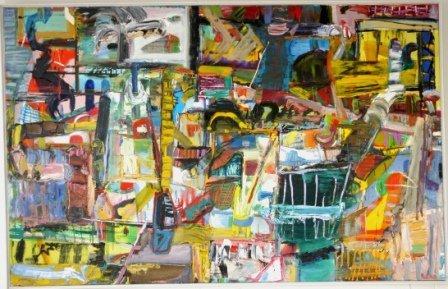 """1013: HIGGS, Paul (b.1954)  """"Yellow Black Liquorice,"""" 1"""