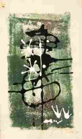 GLEGHORN, Thomas (b.1925) Abstract. Xmas '57. M