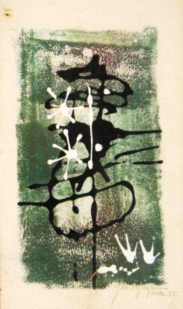 1014: GLEGHORN, Thomas (b.1925)  Abstract. Xmas '57.  M