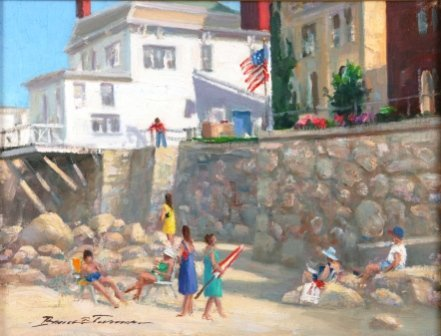 "1018: TURNER, Bruce Backman (b.1941)  ""Front Beach Rock"