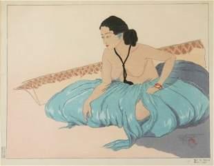 """JACOULET, Paul (1902-1960) """"Sur le Sable Rhull."""