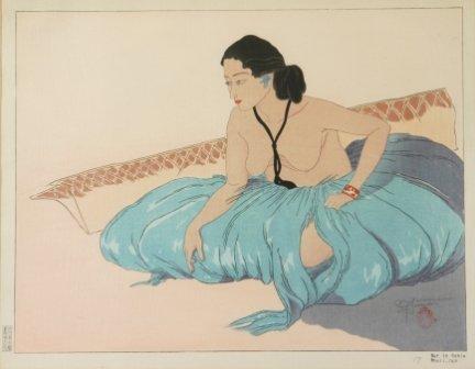 """1020: JACOULET, Paul (1902-1960)  """"Sur le Sable Rhull."""
