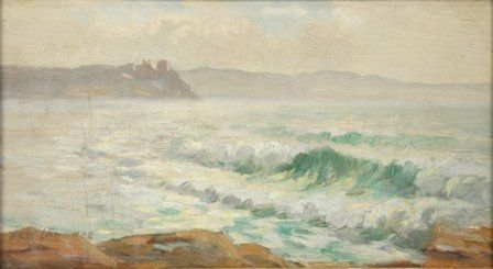 LANGKER, Erik (1898-1982) Sydney Coastal Scene.