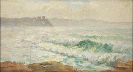 1024: LANGKER, Erik (1898-1982)  Sydney Coastal Scene.