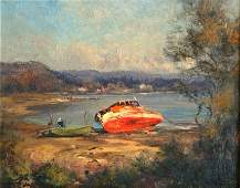 """1053: SEALY, Kasey (b.1961) """"The Old Fisherman's Boat,"""
