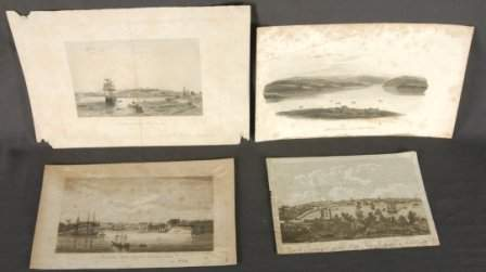 """1226: 4 Various Early Colonial Engravings  """"Sydney, New"""
