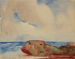 YOUNG, Blamire (1862-1935) Seascape - Ocean View