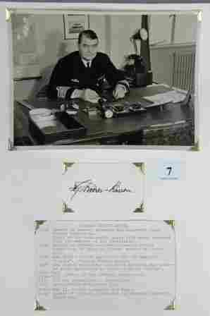 Hjalmar RIISER-LARSEN - Pilot & Explorer. Black ink