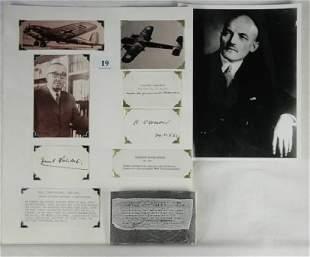 Autographs Claude DORNIER & Ernst HEINKEL - German