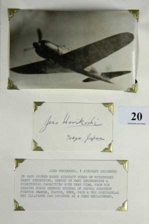 Autograph Jiro HORIKOSHI - Japanese Aircraft Design