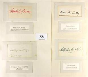 7 Autographs Inc. Hilaire BELLOC & Alfred AUSTIN.