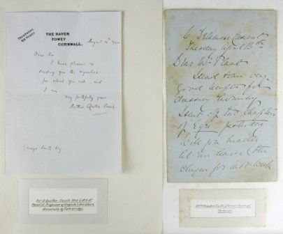 Autographs - 5 English Writers Inc. A.QUILLER-COUCH