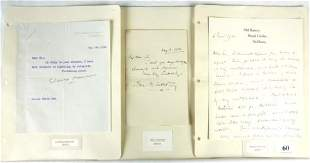 7 Autographs - English Novelists & Correspondents I