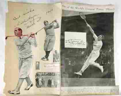 Autograph - Walter HAGEN - Golf Champion